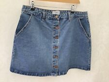 New Look, Ladies A Line Button Front Denim Skirt, Size 16