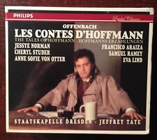 Offenbach: Les Contes d'Hoffmann 3 CD set 1993, Tate J. Norma Philips New Sealed