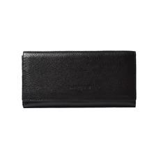 SALE was $69 - Bianca Clip Purse - Black Pebble Womans Bag- Genuine Leather