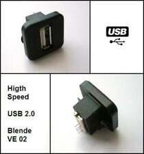 USB Einbaubuchse Einbausteckdose passend für BMW Audi VW Autoradio E46 E91 A4 A3