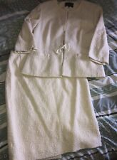 Ladies Jaeger Suit Mother Of The Bride/ Groom Ivory Cream Skirt Size 14 Jacket