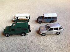 Paquete De 4 Coches de Juguete - 2 X Land Rover, 1 X 1 X raíces & Eddie Stobart vehículo