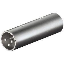 Adattatore Audio PRO Cannon XLR 3 poli Maschio a Cannon XLR 3 poli Maschio
