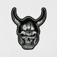 Biker Chopper Motorrad Viking Skull Wikinger Totenkopf Aufbügler Aufnäher Patch