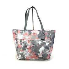 "Tumi Large M-Tote Casual 13"" Laptop Carry-All Bag Pink Gray Floral Voyageur"