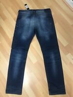 NWD Mens Diesel BELTHER STRETCH Denim R23T8 DARK BLUE SLIM W34 L32 H7 RRP£150