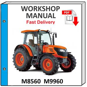 KUBOTA M8560 M9960 TRACTOR SERVICE REPAIR WORKSHOP MANUAL