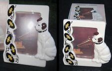 Nipper Victor Edison dog and phonograph ceramic photo frame NOS vintage