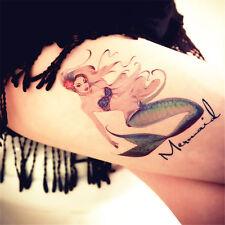 Women Mermaid and Fairy Tattoo Temporary Stickers Body Art 3D Tattoo Waterproof
