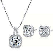 Moda Colgante Collar Aretes de Cristal para Boda Joyería Conjunto de regalo de Día de las Madres