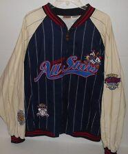 Vintage Disney All Star Baseball Varsity Full Zip Striped Jacket Mens Size XL