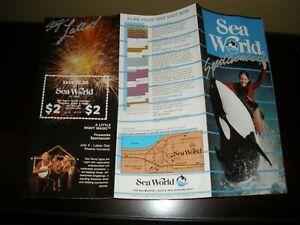 Vintage Shamu Sea World Aurora Ohio Brochure #3 EUC