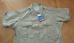 NEW Elbeco Duty Max Ladies Tan short Sleeve shirt size 52,  style 9772  NANOTEX