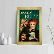 Nice Butt Bathroom Decor Hocus Pocus Witch Halloween Gallery Unframed Poster Art