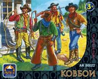 Set of soldiers Cowboys, a set of 8 figures (65 mm) 8 figures