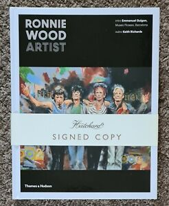 Ronnie Wood 'Artist' hand signed edition by Ronnie, large hard back book. NEW (3