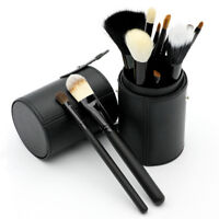 Leather Cosmetic Cup Case Makeup Brush Pen Holder Storage Box Organizer Pop