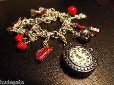 Brand New Quartz Watch Clip on Charm For Bracelets