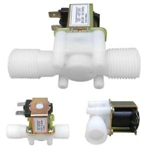 Plastic Electric Solenoid Valve Magnetic Water Switch Air Normally Closed ST