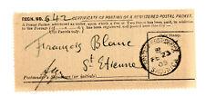 BRITISH LEVANT GREECE Registration receipt RRR SALONICA B Single circle PMK