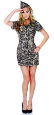 Halloween Cosplay Costume Womens XL Cute Sexy Army Military Camo Underwraps