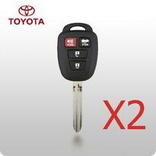 X2 Toyota Camry 2012 2013 2014 4 Button Remote Head Key HYQ12BDM G Chip