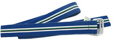 Brand New Polo Ralph Lauren Classic Grosgrain Repp Stripe Belt!  S   Blue Stripe
