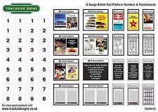 British Rail Platform Numbers & Posterboards - Model Railway -  O Gauge 7mm