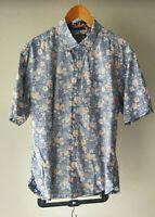 Reyn Spooner Short Sleeve Button Front Shirt Sz XL Reversed Fabric Men Hawaii