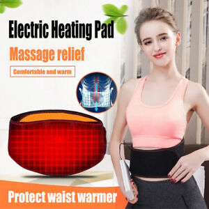 USB Back Electric Heating Warm Pad Waist Brace Relief Pain Warmer Belt Therapy