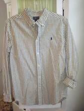 RALPH LAUREN big boys yellow checked cotton oxford shirt Sz XL 18-20