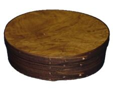 Shaker Music Box with Walnut Bands and Laurel Burl Top, Lacquer Finish