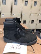Timberland Big Kids 6 Inch Premium Waterproof Nubuck Boots Black 12907 size 6.5
