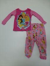 2 Piece Disney Princess Girls Size 12M  Pajama Set Excellent Condition
