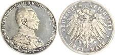 Preußen 3 Mark 1913 A Wilhelm II. 25 jähriges Regierungsjubiläum PP,berieben