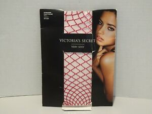 VICTORIA SECRET Very Sexy Red Stringer Pantyhose NEW Size B Costume