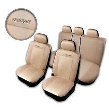 Prestige Auto Sitzbezüge Sitzbezug Schonbezüge Alkantara Beige Komplettset TOP