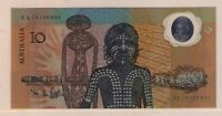 AUSTRALIA 1988 $10 Bicentennial Aboriginal Banknote AA PREFIX IN FOLDER