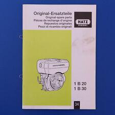 Hatz Motor 1B20 1B30 -  Ersatzteilkatalog Ersatzteilliste - Ausgabe 2005