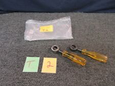 2 PROTO PUNCH CHISEL HOLDER 2108 YELLOW HANDLE TOOL SHOP 2108 GARAGE USED