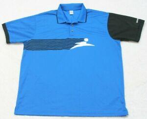 Finish Line Polo Shirt Polyester Short Sleeve XXL Mans Top Blue Black White 2XL