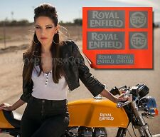 ROYAL ENFIELD New Logo DECALS STICKERS ★ 6 PACK ★ for Gas Tank Tool Box Window