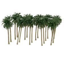 20 Tropical Coconut Palm Tree Model Train Railway Wargame Scenery 1:120 8cm