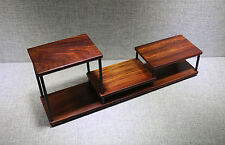 display stand shelf Chinese red wood carving new China small curio rosewood base