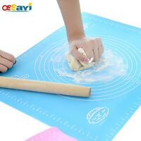 Silicone Dough Rolling Pin Roller Pastry Boards Mat Kitchen Baking Tools