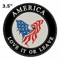 AMERICA LOVE IT OR LEAVE Car Truck Window Bumper Graphics Sticker Decal Vinyl