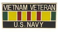 US Navy Vietnam Veteran Ribbon Hat or Lapel Pin H15628D30