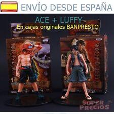 One Piece ♦ Set 2 Figuras Luffy y Ace 18 cm Juguete con caja Original Banpresto