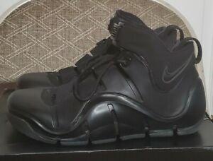 DEADSTOCK 2006 Nike Zoom LeBron 4 IV size 10 BLACK ANTHRACITE foamposite vintage