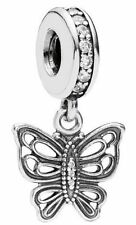 NEW Authentic Pandora Silver Openwork Vintage Butterfly Charm Dangle 791255CZ